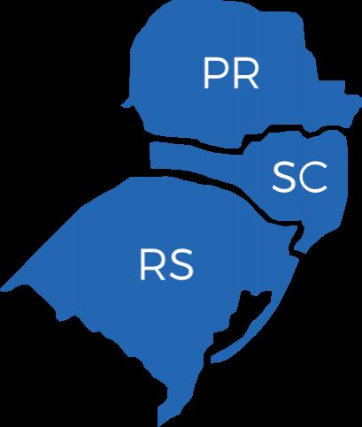 mapa sul do Brasil